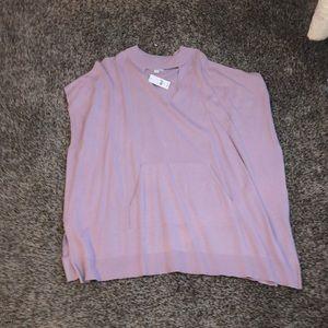 New York & Company Lilac Poncho Sweater! S/M! NWT!